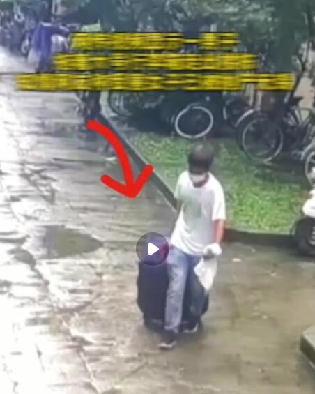 女子被杀装行李箱